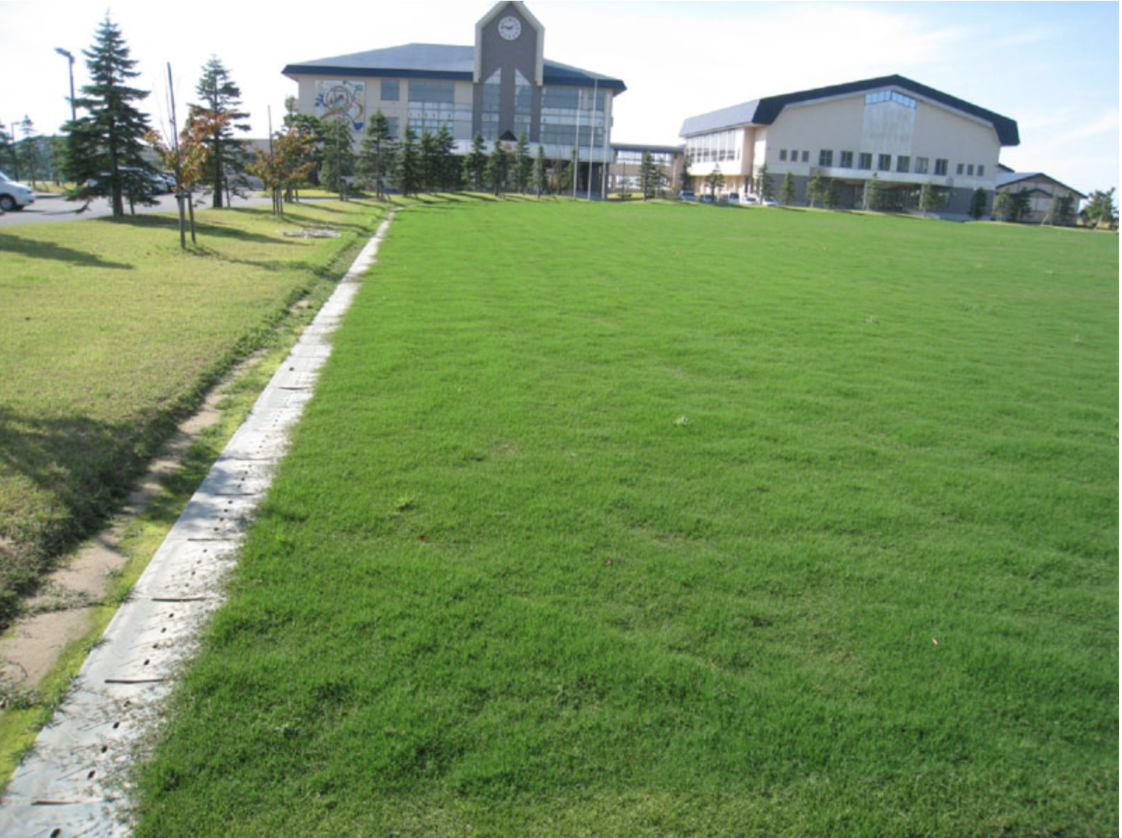 設備メンテナンス-八郎潟中学校グラウンド改良工事(施工前)